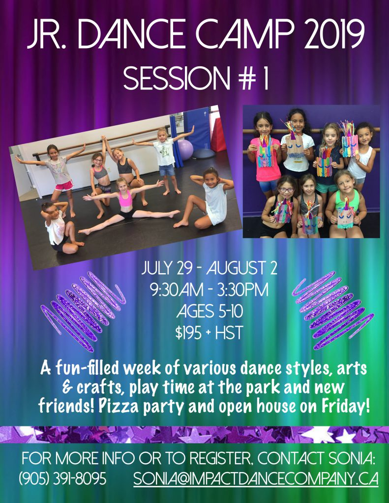 Session 1 Dance Camp 2019