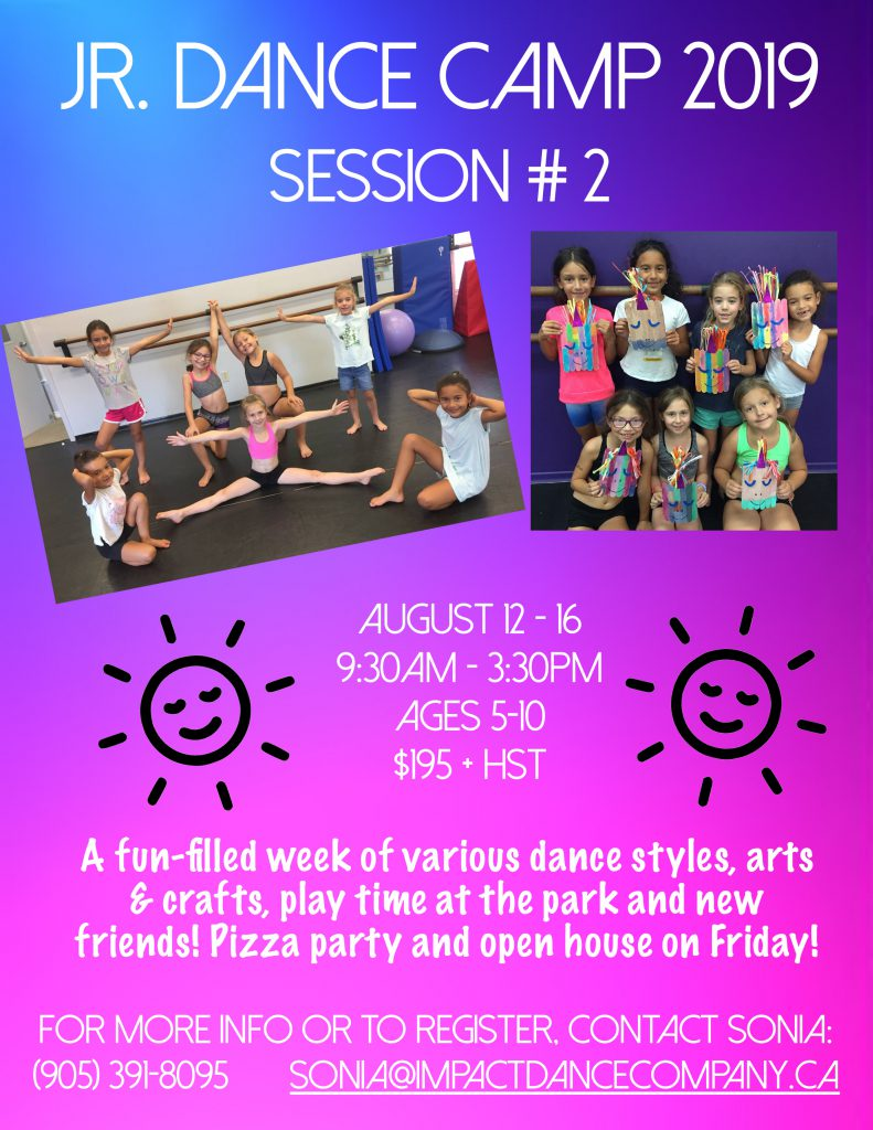 Session 2 Dance Camp 2019
